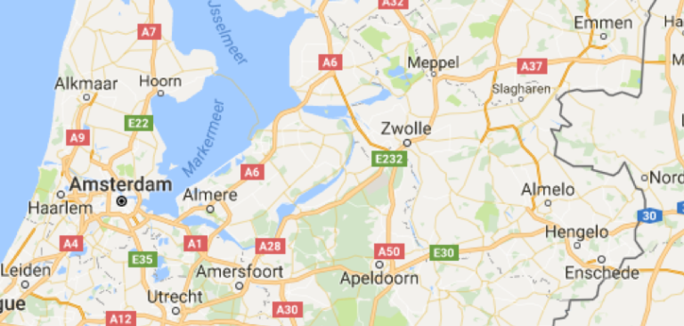 Google maps image showing Holland