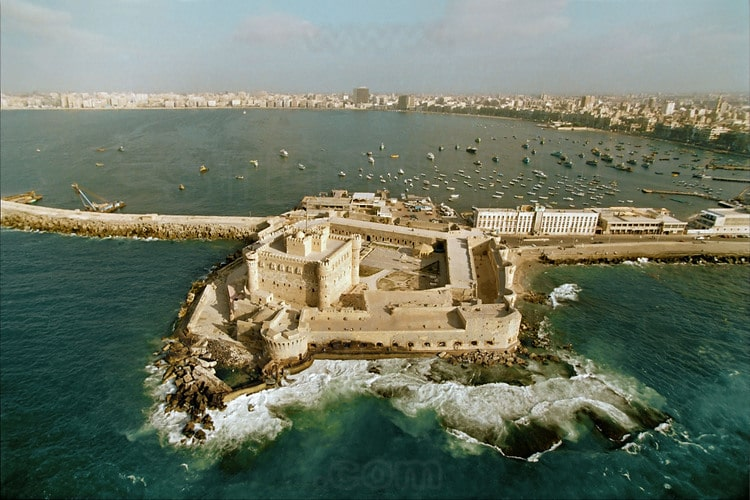 An ariel view of the fort