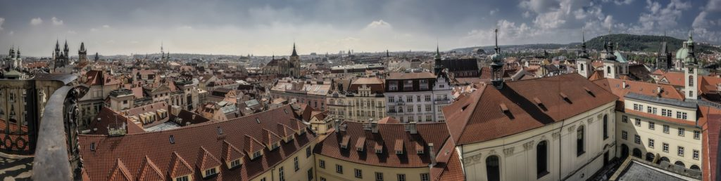 Panoramic view to the old city, Prague, Czech Republic
